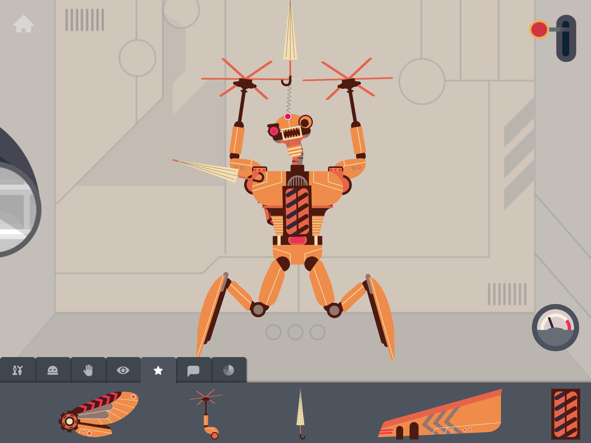 'The robot factory' app build mode