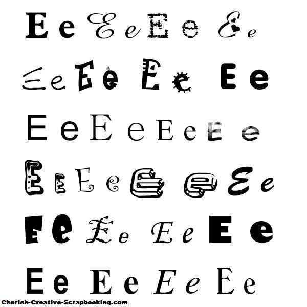 Different styling for letter 'e'