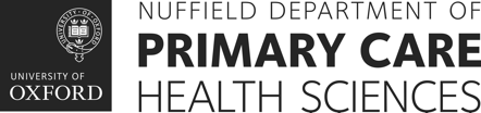 UX/UI project for Nuffield Department of Primary Care Health sciences